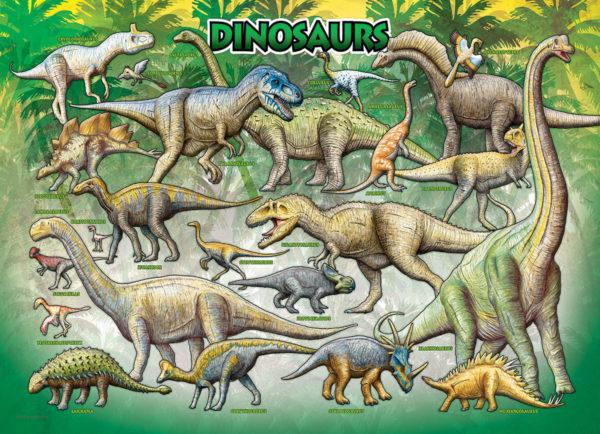 2450-009811-Dinosaurs Cretaceous-36×24