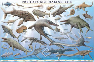 2450-0307-Prehistoric Marine Life-36x24