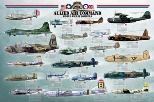 2450-0378-Allied Air Command WWII Bomber-36X24