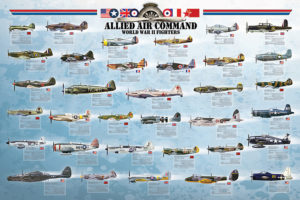 2450-0379-Allied Air Command WWII Fighter-36X24