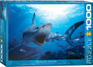 6000-0299-Hungry Shark -Item# 6000-0299 - Puzzle size 26.5x19.25 in