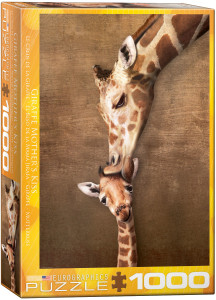 6000-0301-Giraffe Mother's Kiss- Item# 6000-0301 - Puzzle size 19.25x26.5 in