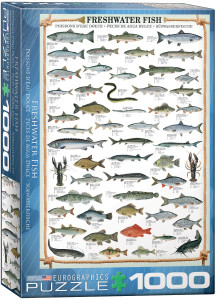 6000-0312-Freshwater Fish-Item# 6000-0312 - Puzzle size 19.25x26.5 in