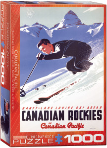 6000-0326-Banff Lake Louise Ski Areas- Item# 6000-0326 - Puzzle size 19.25x26.5 in