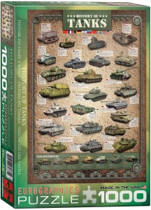 6000-0381-History of Tanks- Item# 6000-0381 - Puzzle size 19.25x26.5 in