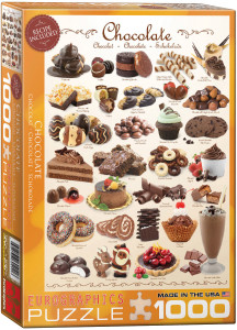 6000-0411-Chocolate- Item# 6000-0411- Puzzle size 19.25x26.5 in
