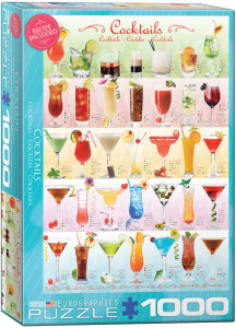 6000-0588-Cocktails- Iteam# 6000-0588 - Puzzle size 19.25x26.675 in