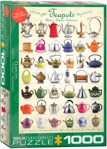 6000-0599-Teapots- i tem# 6000-0599 - Puzzle size 19.25x26.675 in