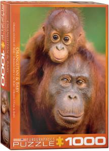6000-0638-Orangutan & Baby- Item# 6000-0638 - Puzzle size 19.25x26.675 in