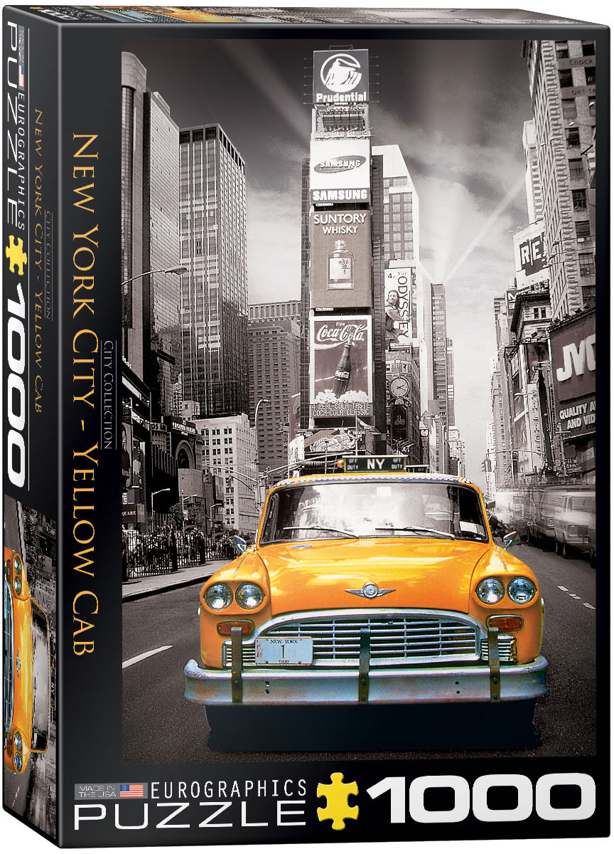 Poster New York Taxi.New York City Yellow Cab 1000 Piece Puzzle Athena Posters