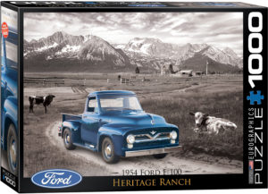 6000-0668-1954 Ford F-100 Heritage Ranch- Item# 6000-0668 - Puzzle size 26.675x19.25 in