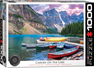 6000-0693-Canoes on the Lake- Item# 6000-0693 - Puzzle size 26.675x19.25 in