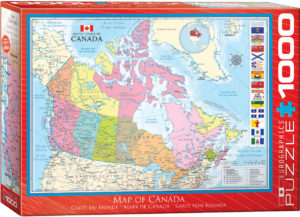 6000-0781-Map of Canada- Item# 6000-0781 - Puzzle size 26.5x19.25 in