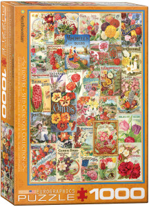 6000-0806-Flowers - Smithsonian Seed Catalogue Collection-Item# 6000-0806- Puzzle size 19.25x26.625 in