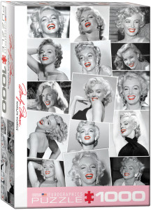 6000-0809-Marilyn Monroe - Red Lips- Item# 6000-0809- Puzzle size 19.25x26.5 in