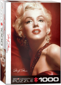 6000-0812-Marilyn Monroe - Red Portrait- Item# 6000-0812 - Puzzle size 19.25x26.5 in