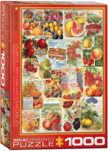 6000-0818-Fruits Seed Catalog Collection- Item# 6000-0818 - Puzzle size 19.25x26.625 in