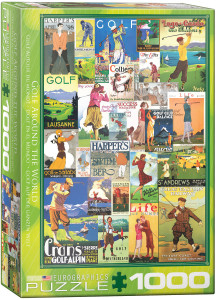 6000-0933-Golf Around the World-Item#6000-0933-Puzzle Side 19.25x26.5 in