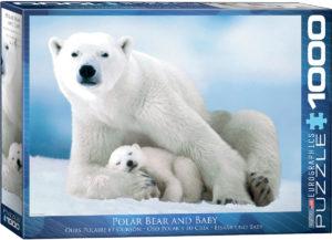 6000-1198-Polar Bear & Baby- Item# 6000-1198 - Puzzle size 26.5x19.25 in