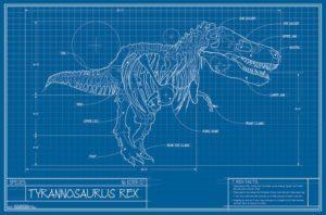 RP15794 T-Rex Blueprint Illustration