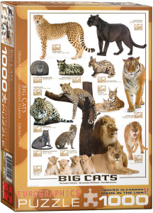 6000-0125-Big Cats- Item# 6000-0125 - Puzzle size 19.25x26.5 in