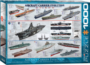 6000-0129-Aircraft Carrier Evolution- Item# 6000-0129 - Puzzle size 26.5x19.25 in