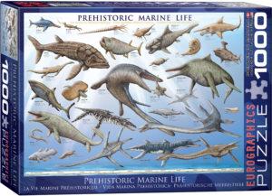 6000-0307-Prehistoric Marine Life-Item# 6000-0307 - Puzzle size 26.5x19.25 in
