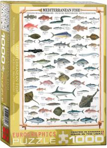 6000-0315-Mediterranean Fish- Item# 6000-0315 - Puzzle size 19.25x26.5 in
