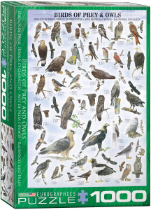 6000-0316-Birds of Prey and Owls- Item# 6000-0316 - Puzzle size 19.25x26.5 in