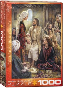 6000-0343-At Jesus' Feet- Item# 6000-0343 - Puzzle size 19.25x26.5 in