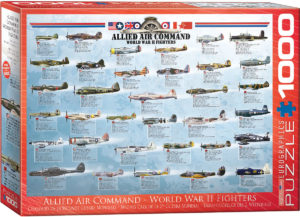 6000-0379-Allied Air Command World War II Fighters- Item# 6000-0379 - Puzzle size 19.25x26.5 in