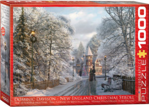 6000-0425-New England Christmas Stroll- Item# 6000-0425 - Puzzle size 26.5x19.25 in