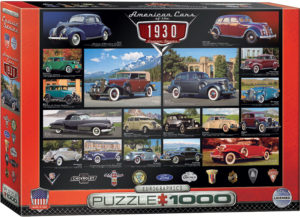 6000-0674-American Cars of the 1930s- Item# 6000-0674 - Puzzle size 26.5x19.25 in