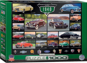 6000-0675-American Cars of the 1940s- Item# 6000-0675 - Puzzle size 26.5x19.25 in