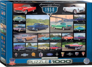 6000-0676-American Cars of the 1950s- Item# 6000-0676 - Puzzle size 26.5x19.25 in
