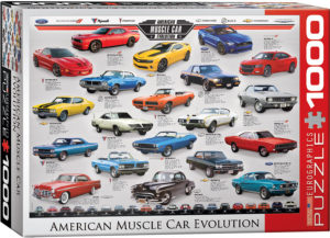 6000-0682-American Muscle Car Evolution- Item# 6000-0682 - Puzzle size 26.5x19.25 in