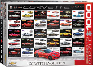 6000-0683-Corvette Evolution- Item# 6000-0683 - Puzzle size 26.5x19.25 in