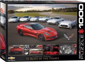 6000-0736-2014 Corvette Stingray It Runs in the Family-Item# 6000-0736 - Puzzle size 26.5x19.25 in