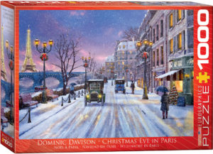 6000-0785-Christmas Eve in Paris- Item# 6000-0785 - Puzzle size 26.5x19.25 in