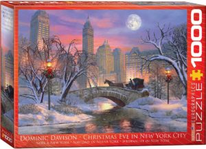 6000-0915-Christmas Eve in New York City-Item#6000-0915-Puzzle Size 26.5x19.25 in