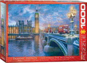 6000-0916-Christmas Eve in London-Item#6000-0916-Puzzle Size 26.5x19.25 in