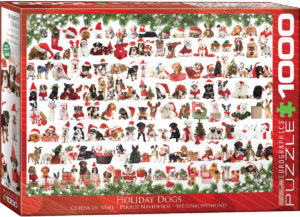 6000-0939-Holiday Dogs-Item#6000-0939- Puzzle Side 26.625x19.25 in