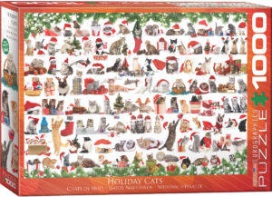 6000-0940-Holiday Cats-Item#6000-0940-Puzzle Side 26.625x19.25 in