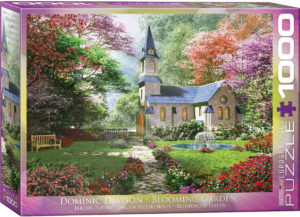 6000-0964-Blooming Garden-Item#6000-0964-Puzzle Side 26.625x19.25 in