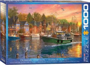 6000-0969-Harbor Sunset-Item#6000-0969- Puzzle Side 26.625x19.25 in