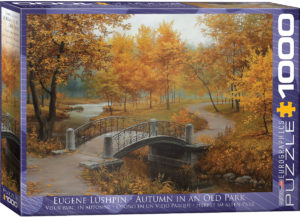 6000-0979-Autumn in an Old Park -Item# 6000-0979- PSize 26.625x19.25in