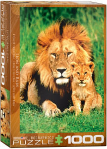 6000-1148-Lion & Baby-Item# 6000-1148- Puzzle size 19.25x26.5 in