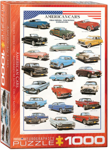 6000-3870-American Cars of the Fifties- Item# 6000-3870 - Puzzle size 19.25x26.5 in