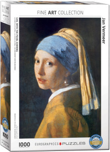 6000-5158-Girl with the Pearl Earring- Item# 6000-5158 - Puzzle size 19.25x26.5 in