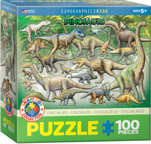 6100-0098-Dinosaurs of the Cretaceous Period- Item# 6100-0098 - Puzzle size 19x13 in